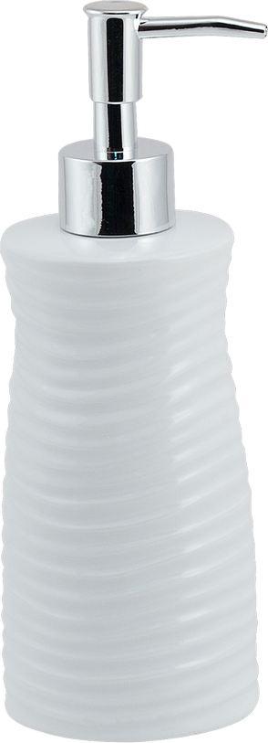 """Дозатор для жидкого мыла Brissen """"Bosco"""" обеспечит его экономный расход и упростит процедуру умывания. Дизайн этого полирезинового изделия выполнен с учетом модных тенденций оформительского искусства. Флакон дозатора имеет эргономичную форму, позволяя увеличить полезное пространство на полке в ванной или на кухонной мойке. Внешняя часть помпы изготовлена из металла, стойкого к окислению под воздействием моющих средств и воды. Конструкция помпы выдерживает многократные нагрузки."""
