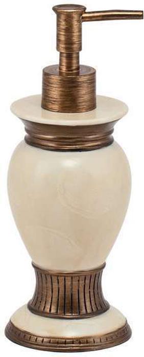 """Дозатор для жидкого мыла Swensa """"Антик"""" – это эргономичное и комфортное устройство, которое будет полезным и функциональным предметом для оснащения ванной комнаты. Благодаря своему уникальному дизайну, изделие успешно дополнит интерьер, выполненный в классическом или античном стиле. Представленная конструкция изготовлена из качественных материалов – полирезина и пластмассы. Они обеспечат изделию защиту от негативных воздействий и долгий срок эксплуатации. Дозатор для жидкого мыла будет незаменимым помощником при выполнении ежедневных процедур."""