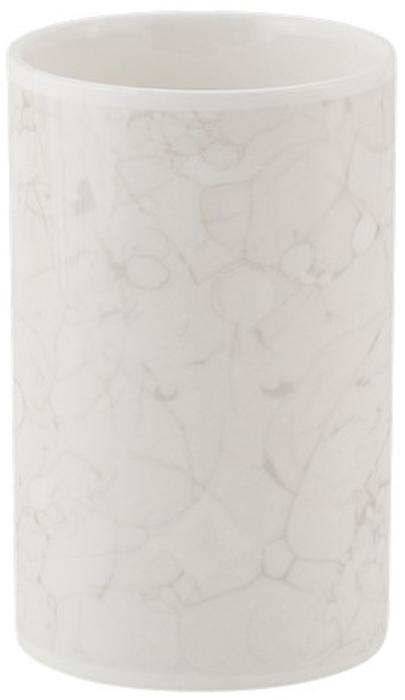 """Стакан для зубных щеток Swensa """"Marmo"""" напомнит каждому члену семьи об изысканном французском стиле и привнесет атмосферу уюта в ванную комнату. Простой, но запоминающийся дизайн без излишеств и ярких цветов порадует ценителей изысканных предметов интерьера. Модель изготовлена из керамики. Этот материал отличается устойчивостью к влаге и температурным режимам, невосприимчивостью к бытовой химии, легкостью очистки. Даже спустя годы эксплуатации керамическая посуда остается в хорошем состоянии и не требует замены."""