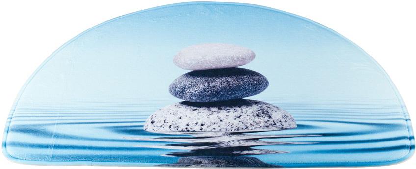 """Коврик Swensa """"Stones"""" способен наполнить ванную комнату атмосферой уюта и домашнего тепла. Микрофибра, из которой изготовлено изделие, отличается непревзойденной мягкостью, особой прочностью, гигроскопичностью. Такое сочетание качеств особенно ценно для текстиля, который планируется использовать в условиях повышенной влажности. Латексная основа предотвращает скольжение коврика на гладкой плитке."""