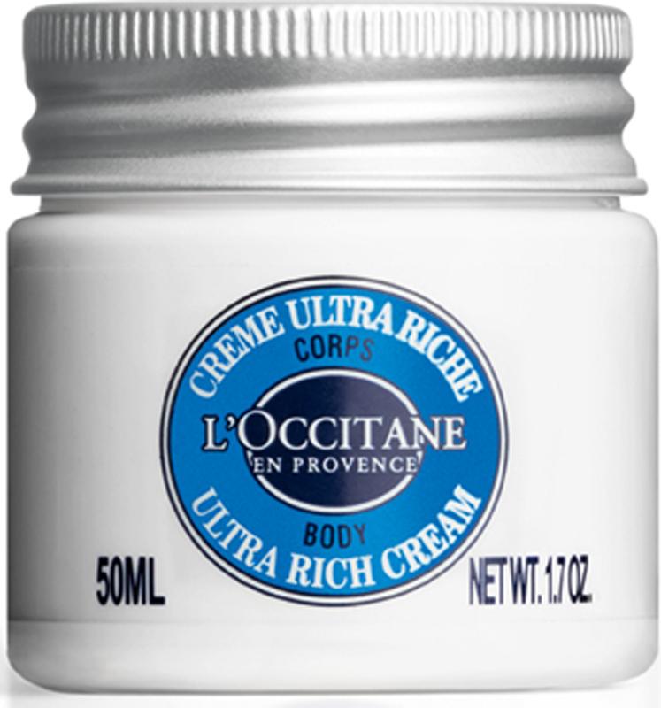 L`Occitane Ультрапитательный крем для тела Карите, 50 мл479957Ультрапитательный крем для тела с высоким содержанием масла карите (25 %) мгновенно питает кожу и дарит ощущение необыкновенной мягкости в течение 72-х часов. Несмотря на свою текстуру, крем легко наносится и быстро впитывается, не оставляя ощущения липкости.