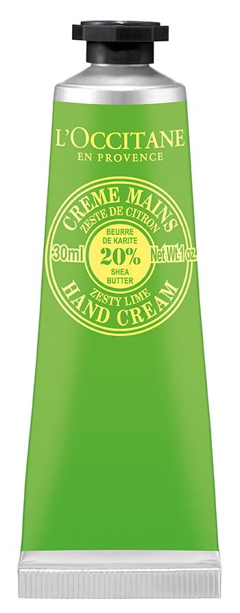 L`Occitane Крем для рук Лайм-Карите, 30 мл318317Обогащенный маслом карите (20%), крем превосходно увлажняет, питает и смягчает кожу рук. Оставляет яркий, бодрящий аромат лайма.Масло Карите - удивительный компонент, известный своими полезными свойствами.LOCCITANE одним из первых начал использовать этот уникальный ингредиент в качестве основной составляющей целой линии средств по уходу за лицом, телом и волосами.