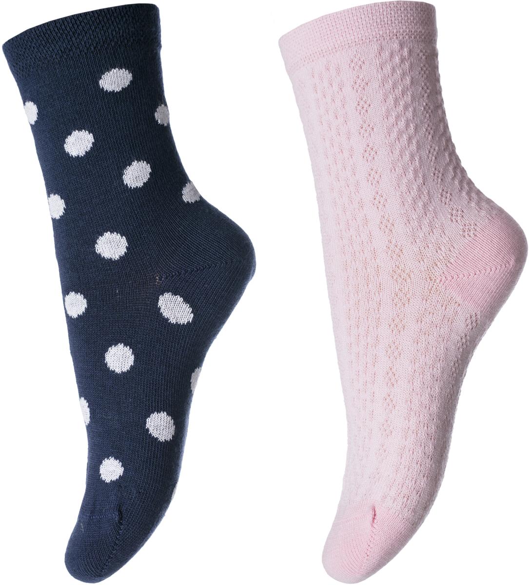 Носки для девочек PlayToday, цвет: розовый, 2 пары. 182084. Размер 16182084Носки мягкие, из натуральных материалов. Хорошо пропускают воздух позволяя коже дышать. Одна пара дополнена жаккардовым рисунком.
