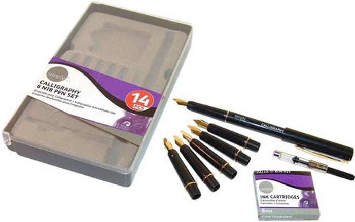 Предназначен для каллиграфии. Подходит как для профессионалов, так и для любителей. Набор состоит из 1 ручки, 6 перьев, размер линий: 0,3 мм, 0,5 мм, 1 мм, 1,5 мм, 2 мм, 3 мм, конвертер чернил и 6 чернильных картриджей.