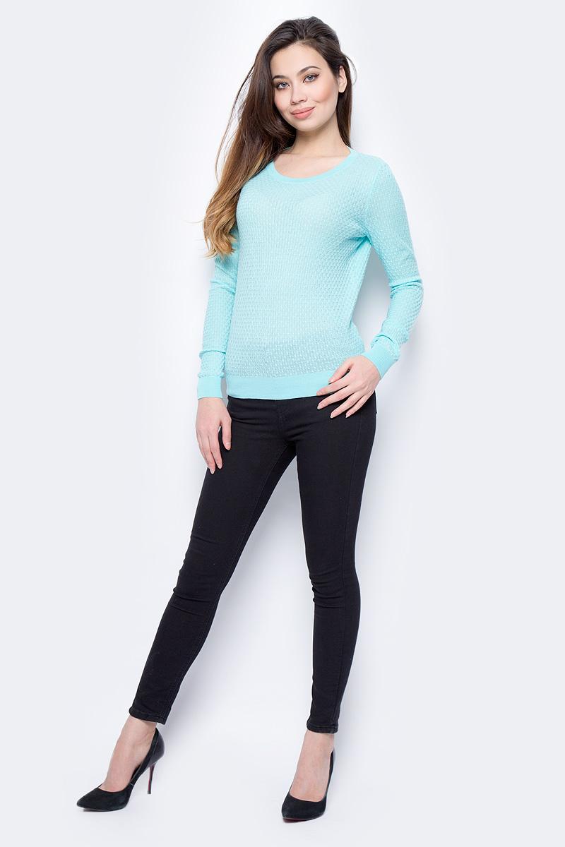 Пуловер женский Sela, цвет: ярко-розовый. JR-114/692-8182. Размер XS (42)JR-114/692-8182Пуловер женский Sela выполнен из натурального хлопка. Модель с V-образным вырезом горловины и длинными рукавами.