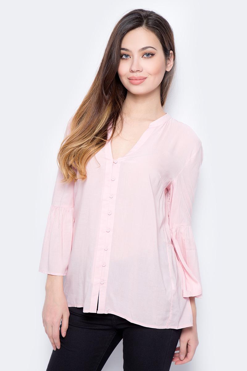 Купить Блузка женская Sela, цвет: розовый. B-112/897-8131. Размер 42