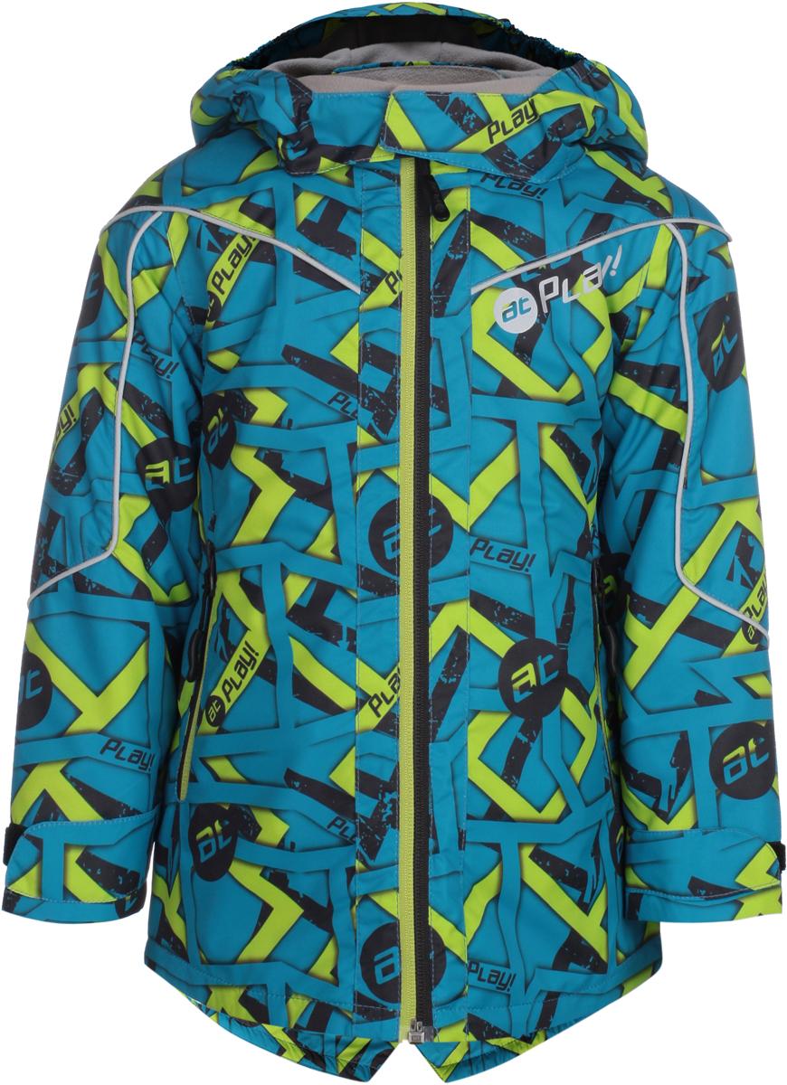 Куртка для мальчиков atPlay!, цвет: голубой. 2jk806. Размер 922jk806Удобная и комфортная куртка для мальчика atPlay! выполнена из качественного полиэстера. Модель застегивается на молнию. Манжеты рукавов дополнены широкими утягивающими хлястиками на липучках. Спереди модель оформлена двумя прорезными карманами на застежках-молниях.