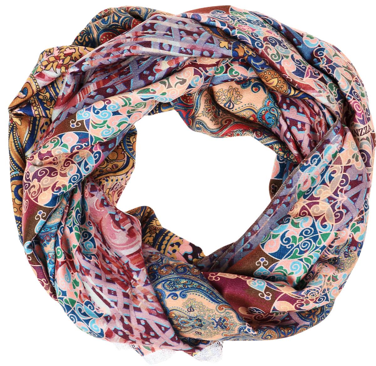 Палантин женский Eleganzza, цвет: бордовый. FA34-0636. Размер 65 см х 180 см перчатки eleganzza is01433 navy