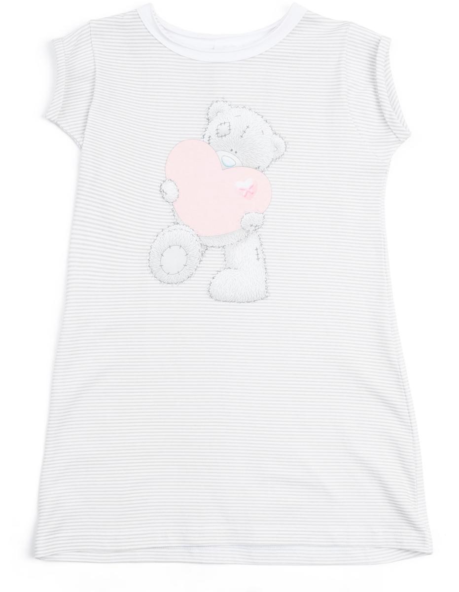 Ночная рубашка для девочек PlayToday Home, цвет: светло-серый. 686002. Размер 122686002Сорочка выполнена из натурального материала. Аккуратные швы не вызывают неприятных ощущений. В качестве декора использован крупный лицензированный принт.