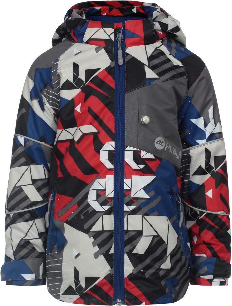 Куртка для мальчика atPlay!, цвет: серый. 2jk804. Размер 104 куртка для мальчика atplay цвет серый 2jk710 размер 128 8 9 лет