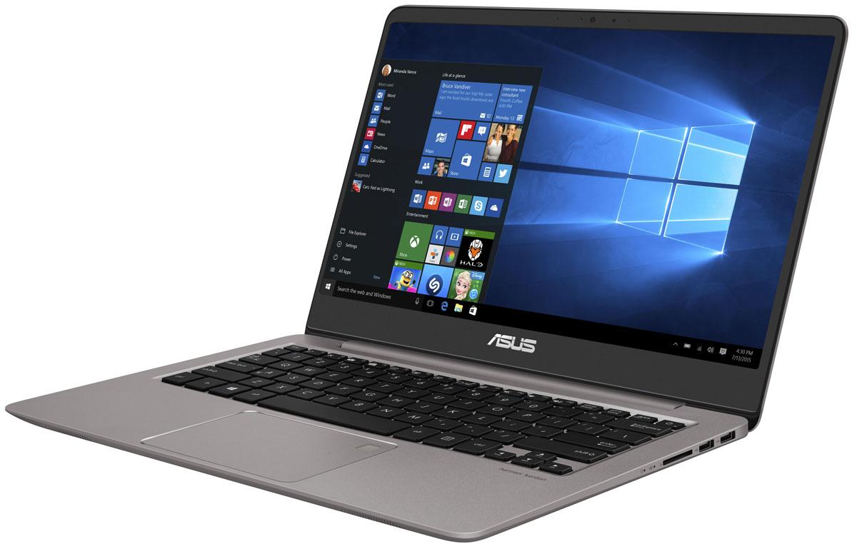 ASUS ZenBook UX410UF, Grey (UX410UF-GV008T)UX410UF-GV008TНовый ноутбук ASUS Zenbook UX410 является воплощением элегантности, утонченности инепревзойденнойпроизводительности в исключительно тонкой и легкой форме. Выполненный в прочномалюминиевом корпусе склассической концентрической отделкой в стиле Дзен, он имеет толщину всего 18,95 мм. Примассе всего 1,4 кгустройство представляет собой идеальный выбор для людей, много времени проводящих вдороге. Благодарявеликолепному 14-дюймовому дисплею с широкими углами обзора работать на нем всегдакомфортно. Высокая вычислительная мощь нового ZenBook UX410 гарантирует быструю работу любых,даже самыхресурсоемких, приложений. В его аппаратную конфигурацию входят современный процессорIntel Core новогопоколения, видеокарта NVIDIA GeForce MX130 и 8 гигабайт оперативной памяти DDR4,работающей на частоте2400 МГц. Ноутбук оборудован новейшим двухдиапазонным модулем Wi-Fi стандарта 802.11ac иподдерживаетбеспроводной интерфейс Bluetooth 4.1. Он оборудован также высокоскоростным портом USBType-C, имеющимспециальную конструкцию, которая позволяет подключать USB-кабель к устройству любойстороной. Ноутбукможет передавать видеосигнал по интерфейсу HDMI на любой совместимый монитор,телевизор или проектор.С таким техническим оснащением ZenBook UX410 готов к любой задаче, независимо от степениее сложности.Энергоэффективные компоненты также являются залогом длительного времени автономнойработыустройства.Потрясающий дисплей формата Full HD подарит пользователю настоящее удовольствие какпри чтении текста,так и при просмотре видео и фотографий. Высокое разрешение способствует также болеекачественномуредактированию фото- и видеоматериалов, позволяя улучшать мельчайшие деталиизображения.Дисплей ZenBook UX410 обеспечивает воспроизведение 72% цветового пространства NTSC,100% SRGB и 74%Adobe RGB. На простом языке это означает, что он может показывать больше оттенков, атакже отображать ихточнее и ярче, чем любой стандартный дисплей ноутбука. Он обеспечива