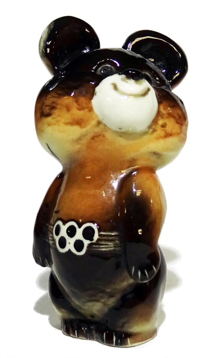 Статуэтка Олимпийский Мишка. СССР, ЛФЗ, 1980 год