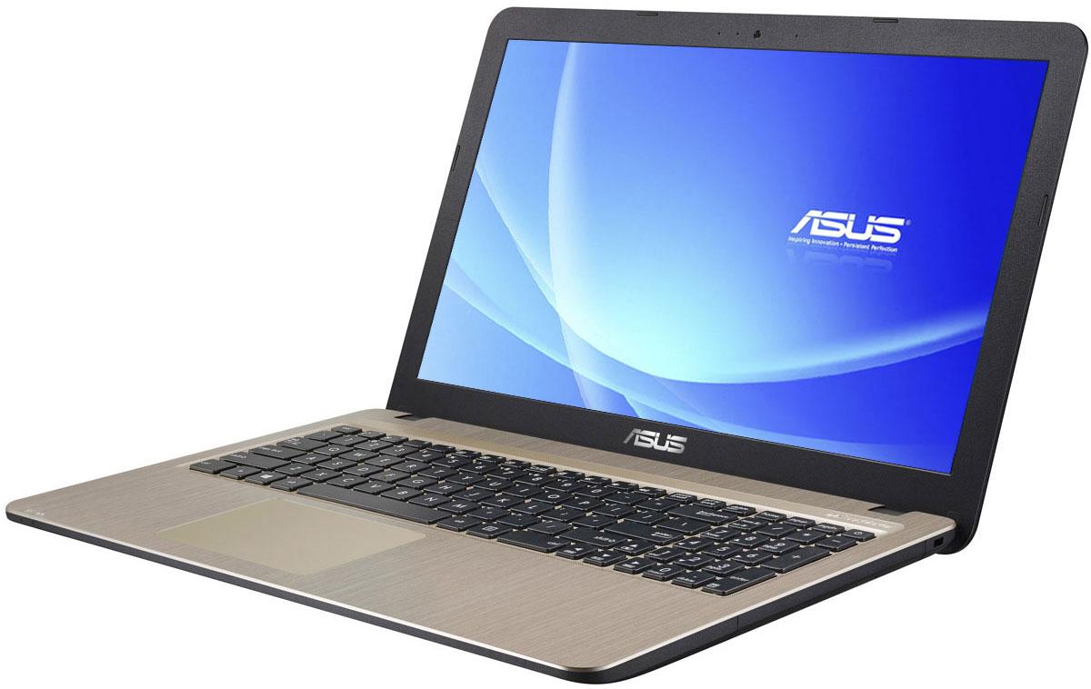 ASUS VivoBook X540YA (X540YA-XO534T)X540YA-XO534TСерия VivoBook X540 - это современные ноутбуки для ежедневного использования как дома, так и в офисе. Ихмощная аппаратная конфигурация, в которую входит современный процессор от AMD, обеспечит высокуюскорость работы любых приложений.Для быстрого обмена данными с периферийными устройствами VivoBook X540SY предлагает высокоскоростнойпорт USB 3.1 (5 Гбит/с), выполненный в виде обратимого разъема Type-C. Его дополняют традиционные разъемыUSB 2.0 и USB 3.0. В число доступных интерфейсов также входят HDMI и VGA, которые служат для подключениявнешних мониторов или телевизоров, и разъем проводной сети RJ-45. Кроме того, у данной модели имеетсякард-ридер формата SD/SDHC/SDXC.Благодаря эксклюзивной аудиотехнологии SonicMaster встроенная аудиосистема ноутбука VivoBook X540SYможет похвастать мощным басом, широким динамическим диапазоном и точным позиционированием звуков впространстве. Кроме того, ее звучание можно гибко настроить в зависимости от предпочтений пользователя иокружающей обстановки.Круглые динамики с большими резонансными камерами (19,4 куб. см) обеспечивают улучшенную передачунизких частот и пониженный уровень шумов.Ноутбук VivoBook X540SY выполнен в прочном, но легком корпусе весом всего 1,9 кг, поэтому он не будетобременять своего владельца в дороге, а привлекательный дизайн и красивая отделка корпуса превращаютего в современный, стильный аксессуар.В ноутбуке VivoBook X540SY реализована разработанная специалистами ASUS технология Splendid,позволяющая выбрать один из нескольких предустановленных режимов работы дисплея, каждый из которыхоптимизирован под определенные приложения: режим Vivid подходит для просмотра фотографий и фильмов,режим Normal - для обычной работы в офисных приложениях, а в специальном режиме Eye Care реализованафильтрация синей составляющей видимого спектра для повышения комфорта при чтении с экрана. Кроме того,имеется режим Manual, в котором параметры цветопередачи можно настроить вручную.Для к
