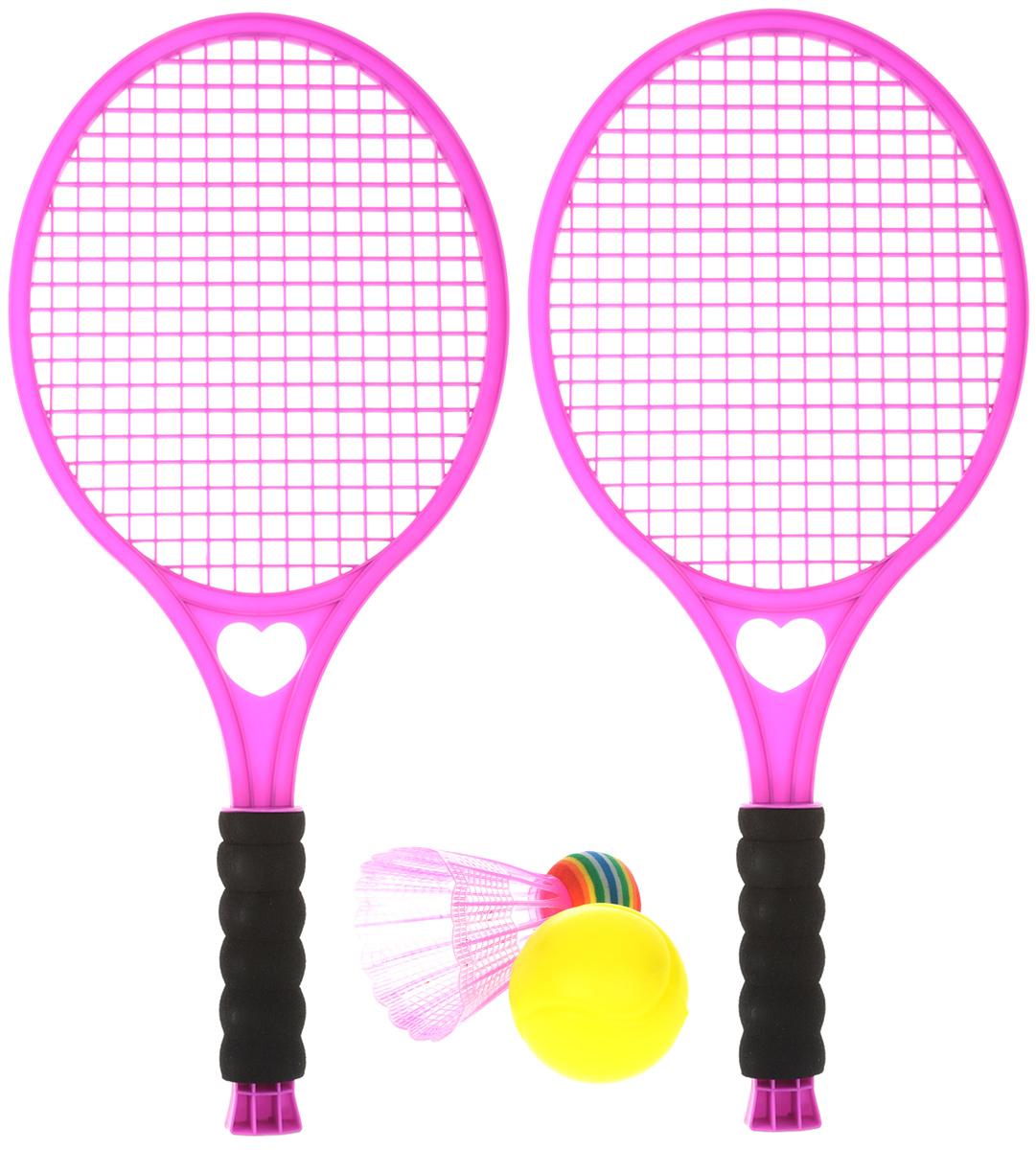 Concord Toys Игровой набор 2 в 1 Бадминтон и тенис цвет розовый