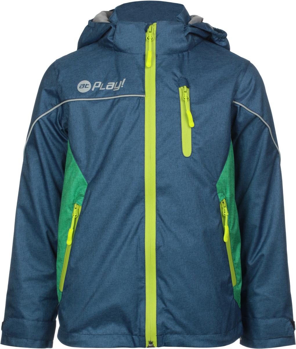 Куртка для мальчика atPlay!, цвет: темно-синий. 2jk808. Размер 134 куртка для мальчика atplay цвет серый 2jk710 размер 128 8 9 лет