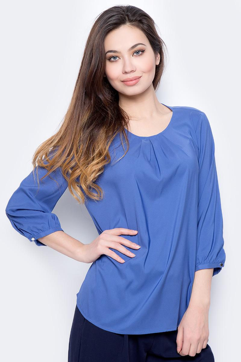 Блузка женская Sela, цвет: сапфировый. Tw-112/1207-8122. Размер 50