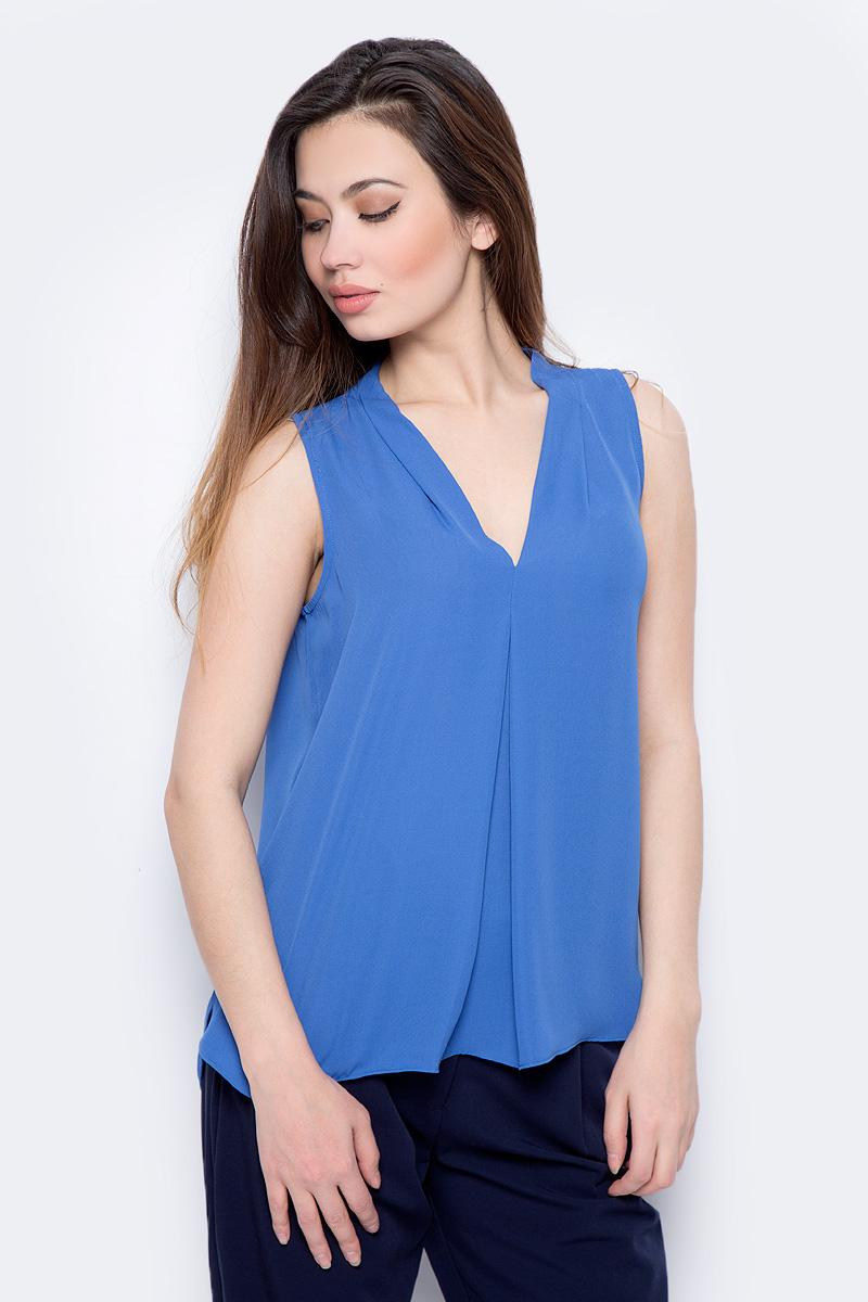 Блузка женская Sela, цвет: сапфировый. Twsl-112/805-8111. Размер 50 блузка женская sela цвет молочный twsl 112 805 8111 размер 50
