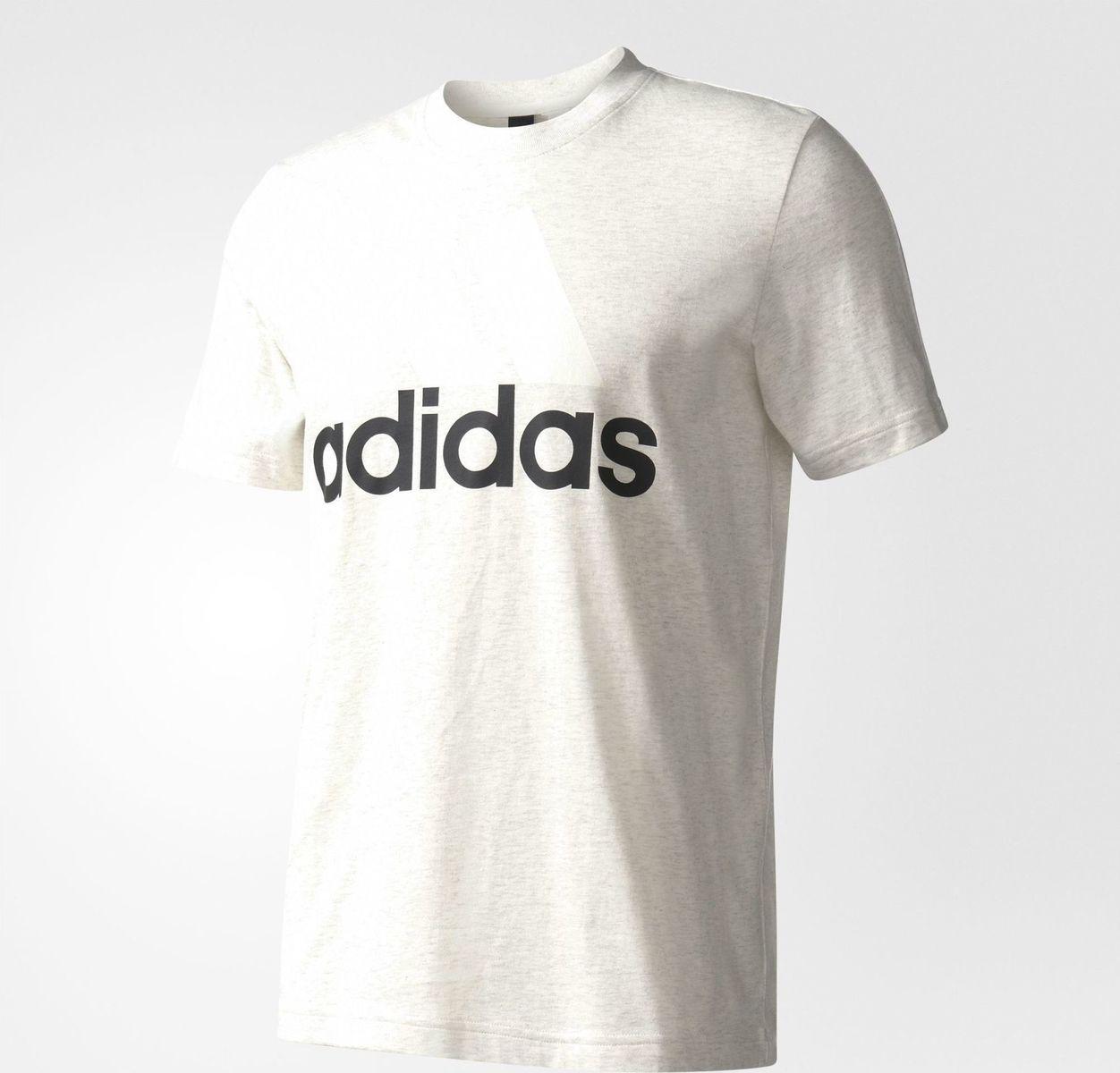 Футболка мужская Adidas Ess Linear Tee, цвет: белый. B47357. Размер L (52/54) толстовки adidas толстовка худи муж ess aop fz b trablu