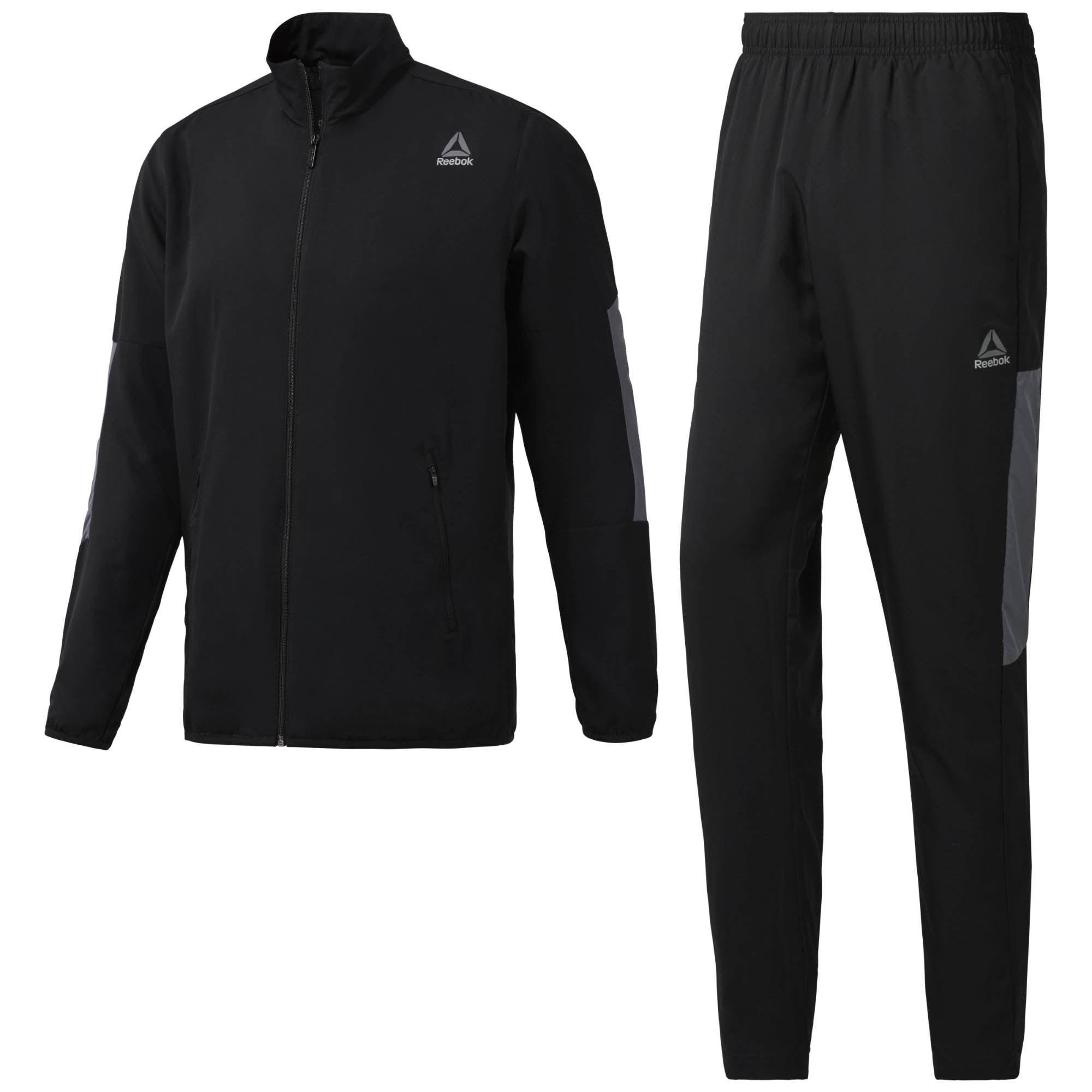 Спортивный костюм мужской Reebok Ts Techy Woven, цвет: черный. BQ5806. Размер XL (56/58)