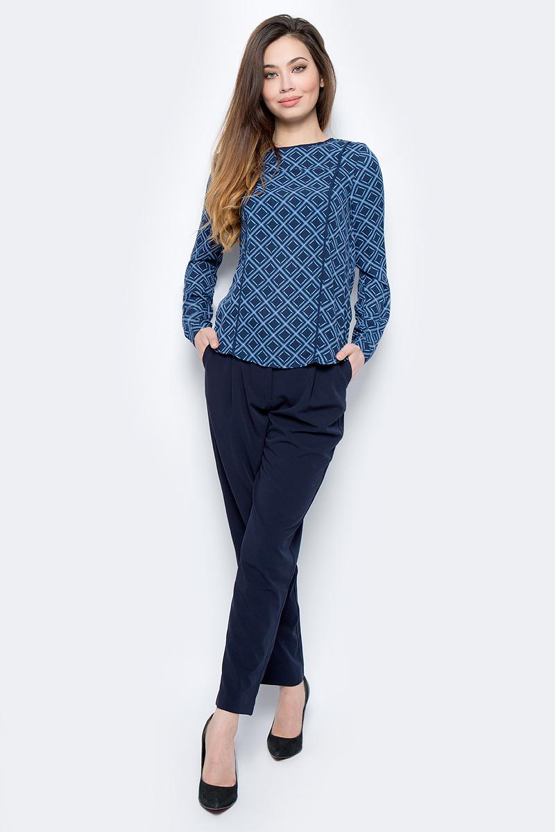 Блузка женская Sela, цвет: темно-синий. Tw-112/782-8111. Размер 50Tw-112/782-8111