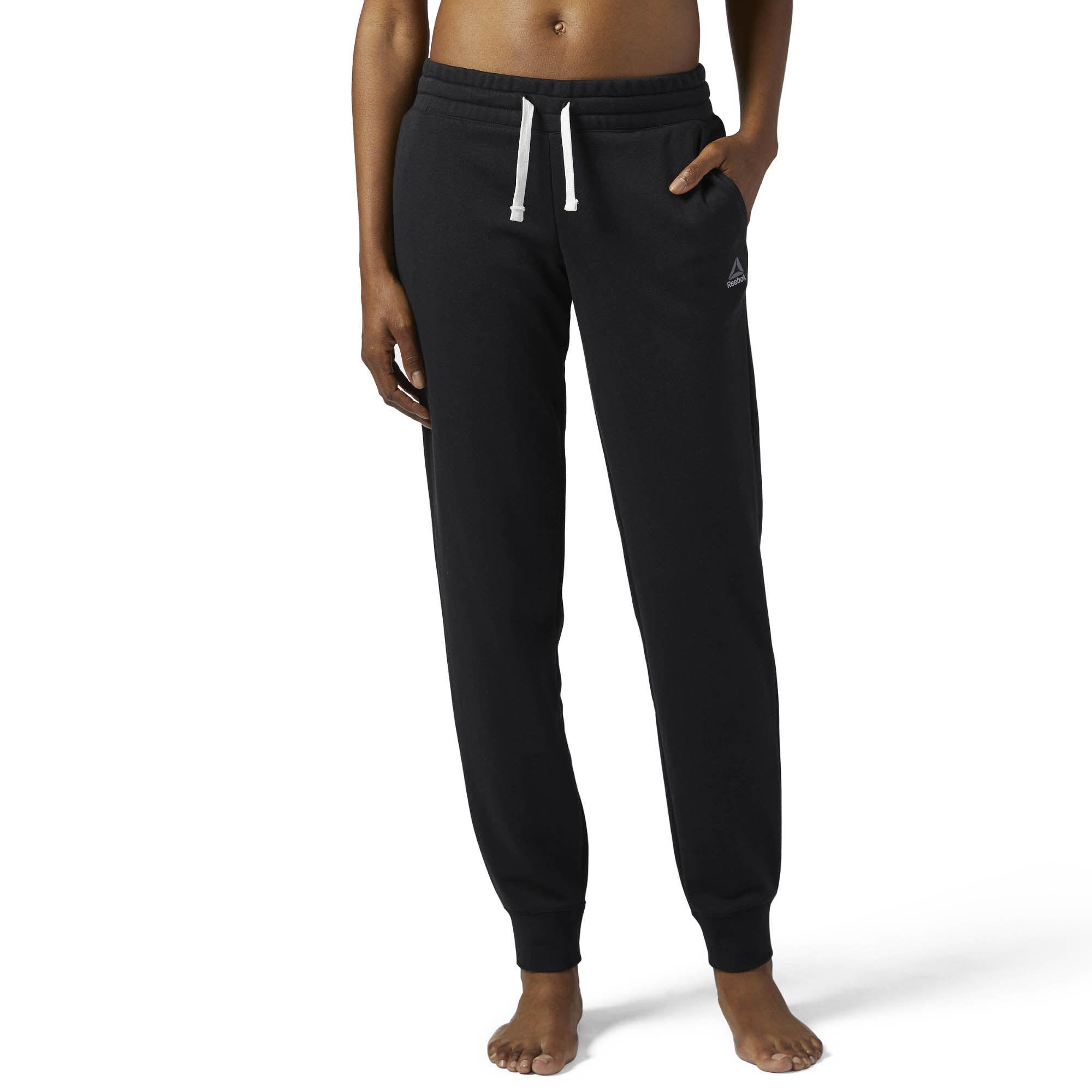 Брюки спортивные женские Reebok El French Terry Pan, цвет: черный. BS4095. Размер M (46/48)