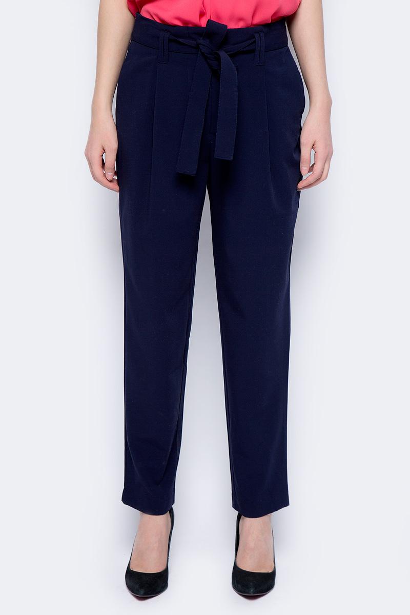 Брюки женские Sela, цвет: темно-синий. P-115/201-8122. Размер 50 брюки женские sela цвет темно синий p 115 858 8110 размер 42