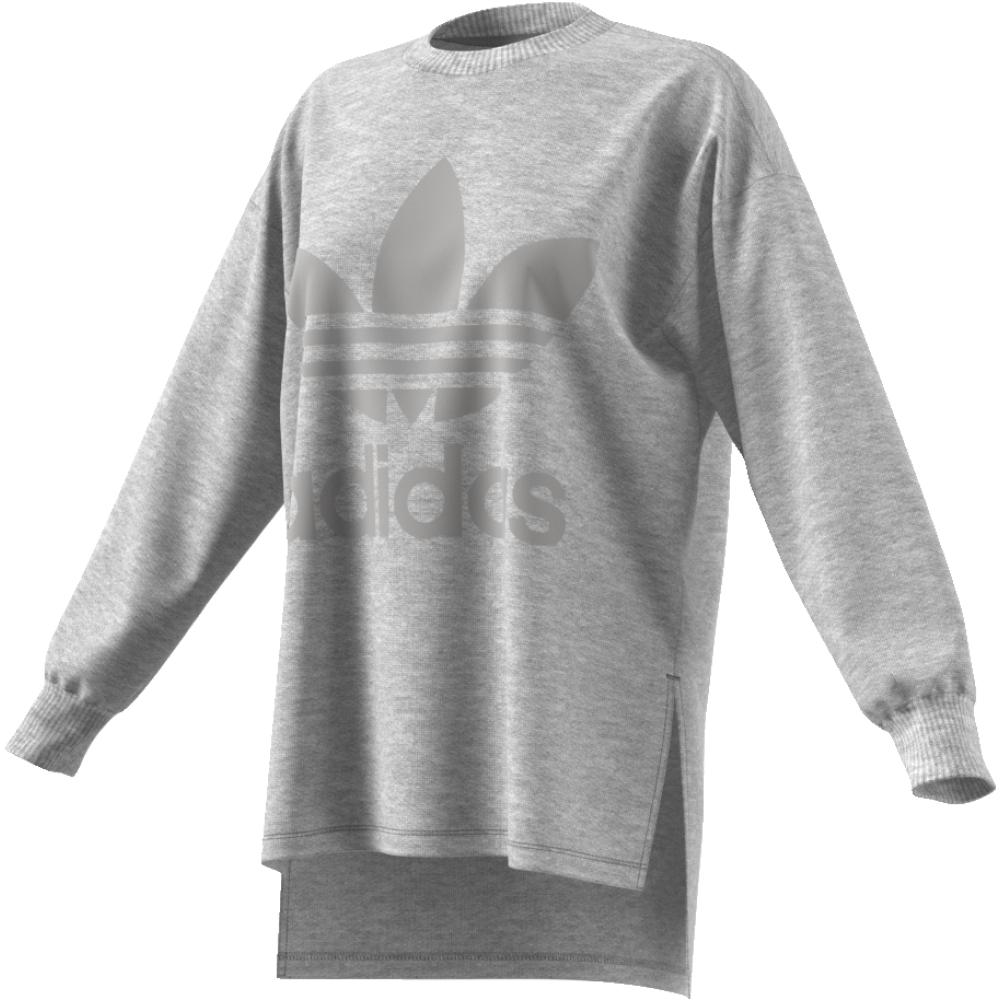 Свитшот женский adidas Sweatshirt, цвет: серый. CD6921. Размер 42 (48)