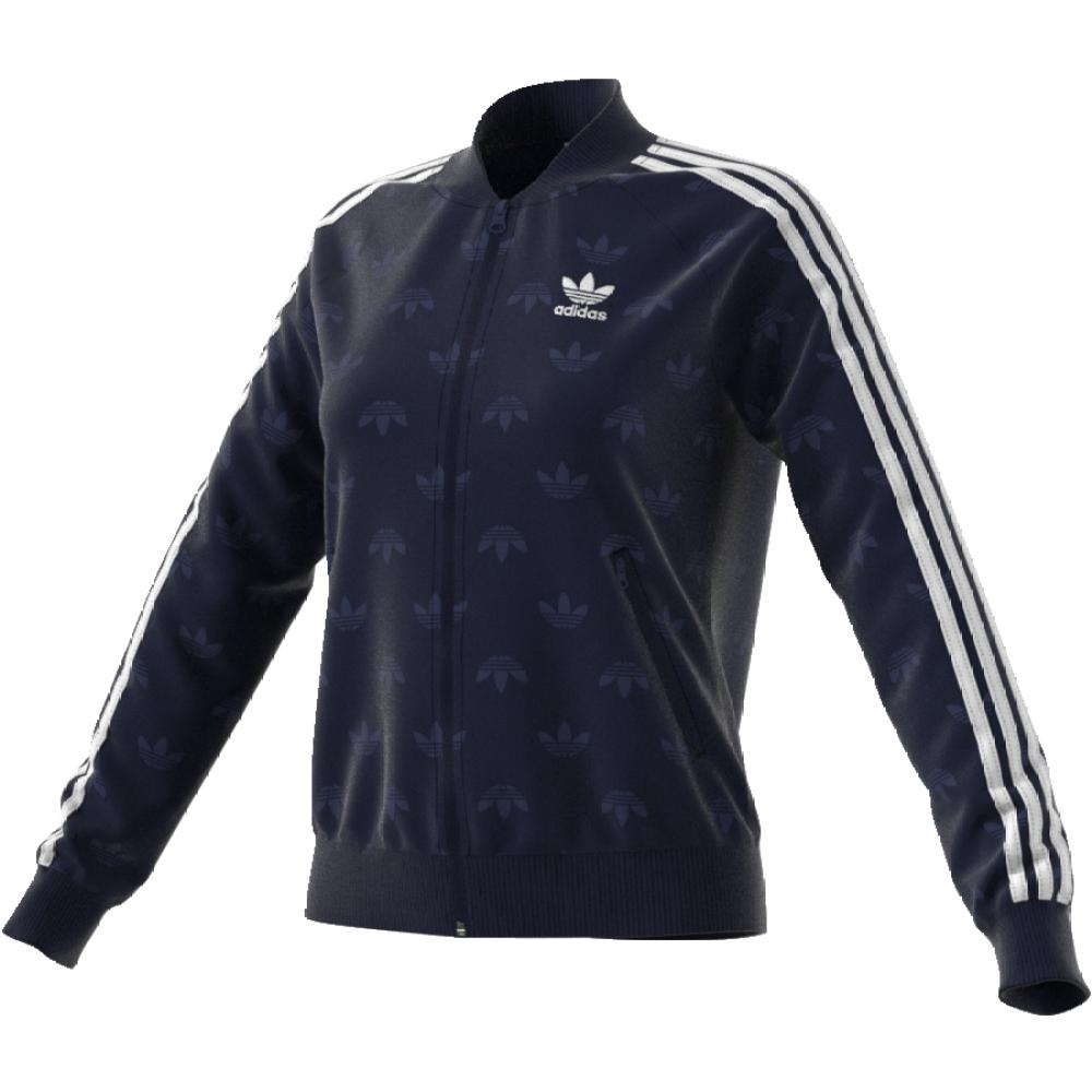 Толстовка женская Adidas Sst Track Top, цвет: темно-синий. CD6918. Размер 32 (40/42)CD6918