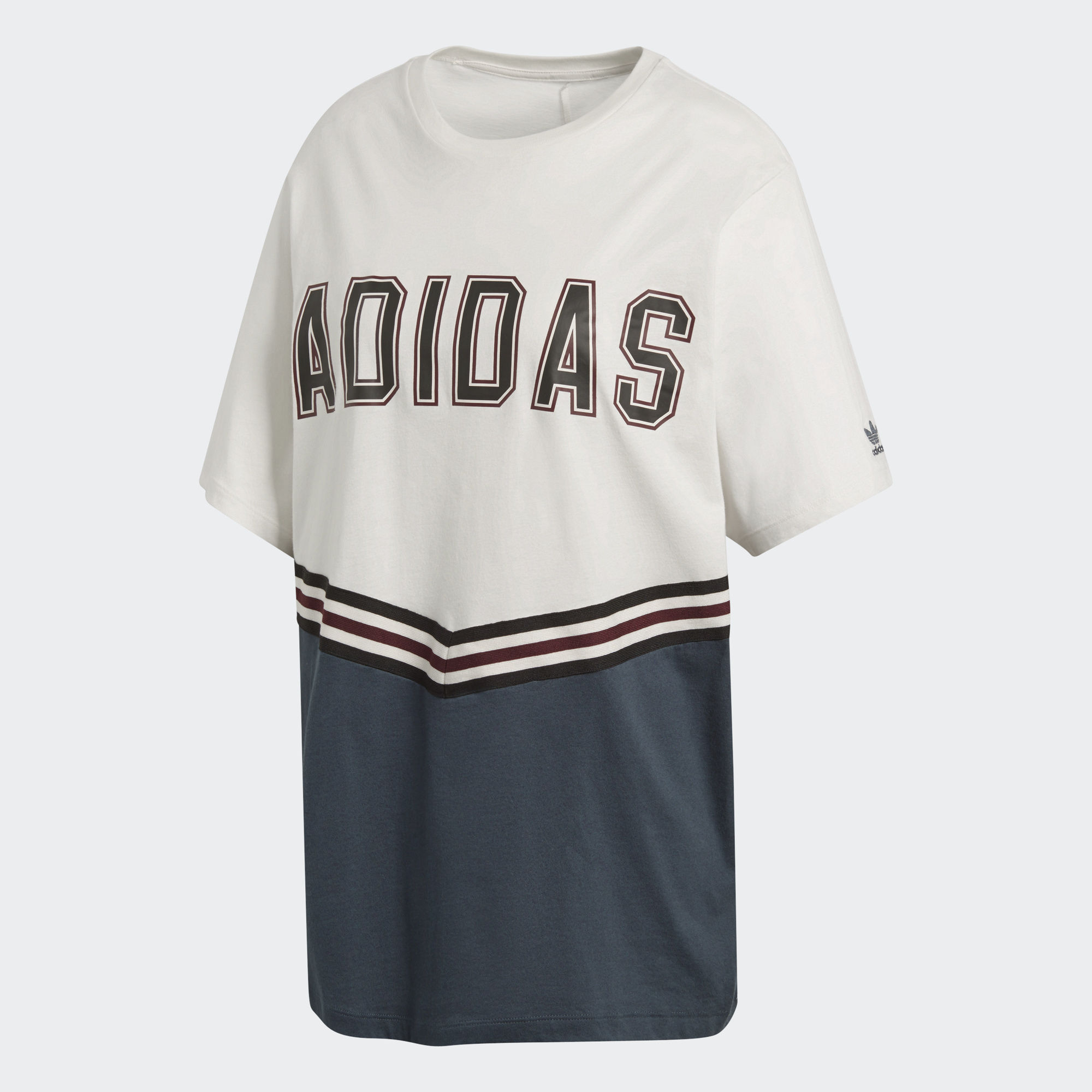 Футболка женская adidas Adibreak Ss Tee, цвет: белый, синий. CE1001. Размер 40 (46/48)
