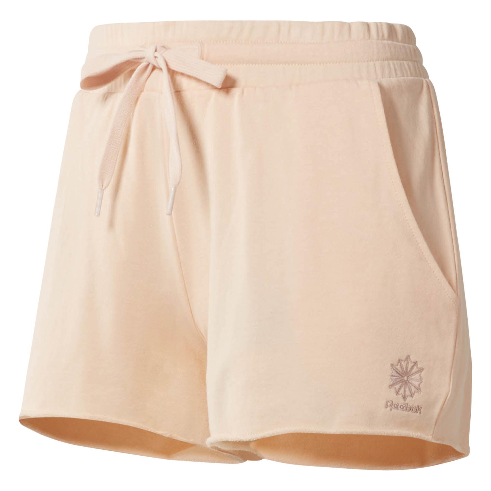 Шорты женские Reebok F Ft Short, цвет: розовый. CD8223. Размер S (42/44)CD8223Женские шорты от Reebok выполнены из натурального хлопка. Модель с эластичным поясом на талии по бокам дополнена карманами.