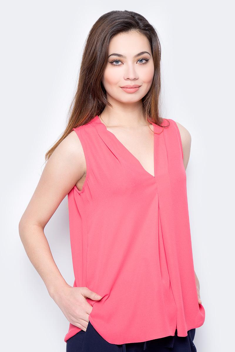 Блузка женская Sela, цвет: красный. Twsl-112/805-8111. Размер 50 блузка женская sela цвет молочный twsl 112 805 8111 размер 50