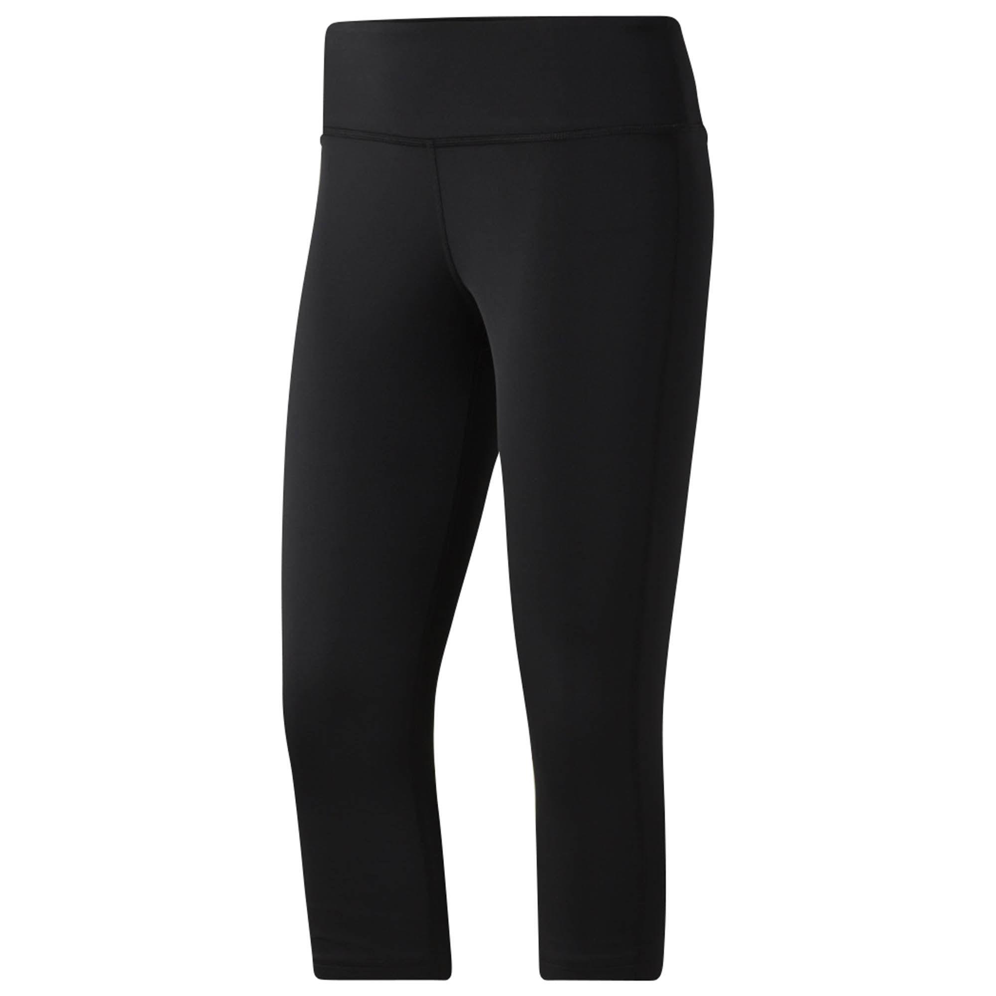 Капри женские Reebok Wor Pp Capri, цвет: черный. CE1221. Размер XS (40)CE1221