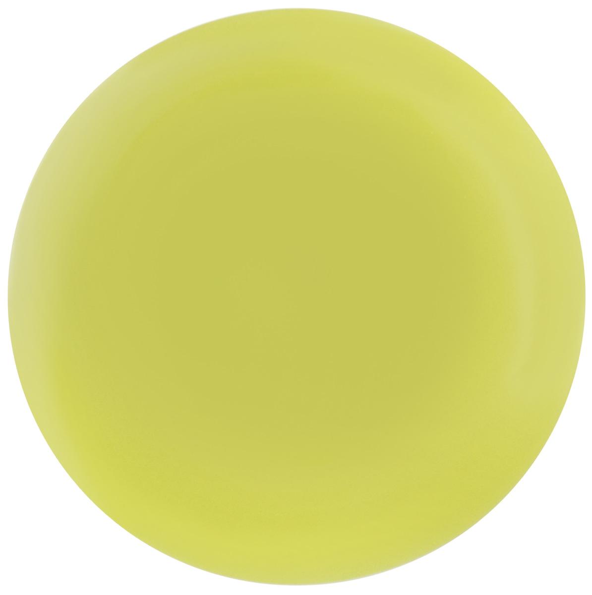 Тарелка NiNaGlass Палитра, цвет: зеленый, диаметр 30 см85-300-125псзТарелка NiNaGlass Палитра выполнена из высококачественного стекла яркий насыщенный цвет. Тарелка идеальна для подачи вторых блюд, а также сервировки закусок, нарезок, салатов, овощей и фруктов. Она отлично подойдет как для повседневных, так и для торжественных случаев. Такая тарелка прекрасно впишется в интерьер вашей кухни и станет достойным дополнением к кухонному инвентарю.