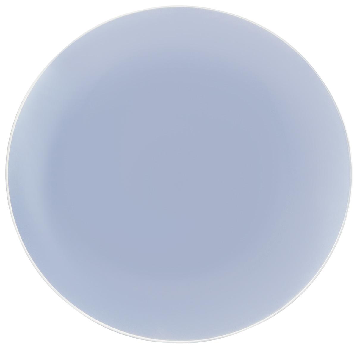 Тарелка NiNaGlass Палитра, цвет: голубой, диаметр 30 см85-300-125псТарелка NiNaGlass Палитра выполнена из высококачественного стекла яркий насыщенный цвет. Тарелка идеальна для подачи вторых блюд, а также сервировки закусок, нарезок, салатов, овощей и фруктов. Она отлично подойдет как для повседневных, так и для торжественных случаев. Такая тарелка прекрасно впишется в интерьер вашей кухни и станет достойным дополнением к кухонному инвентарю.