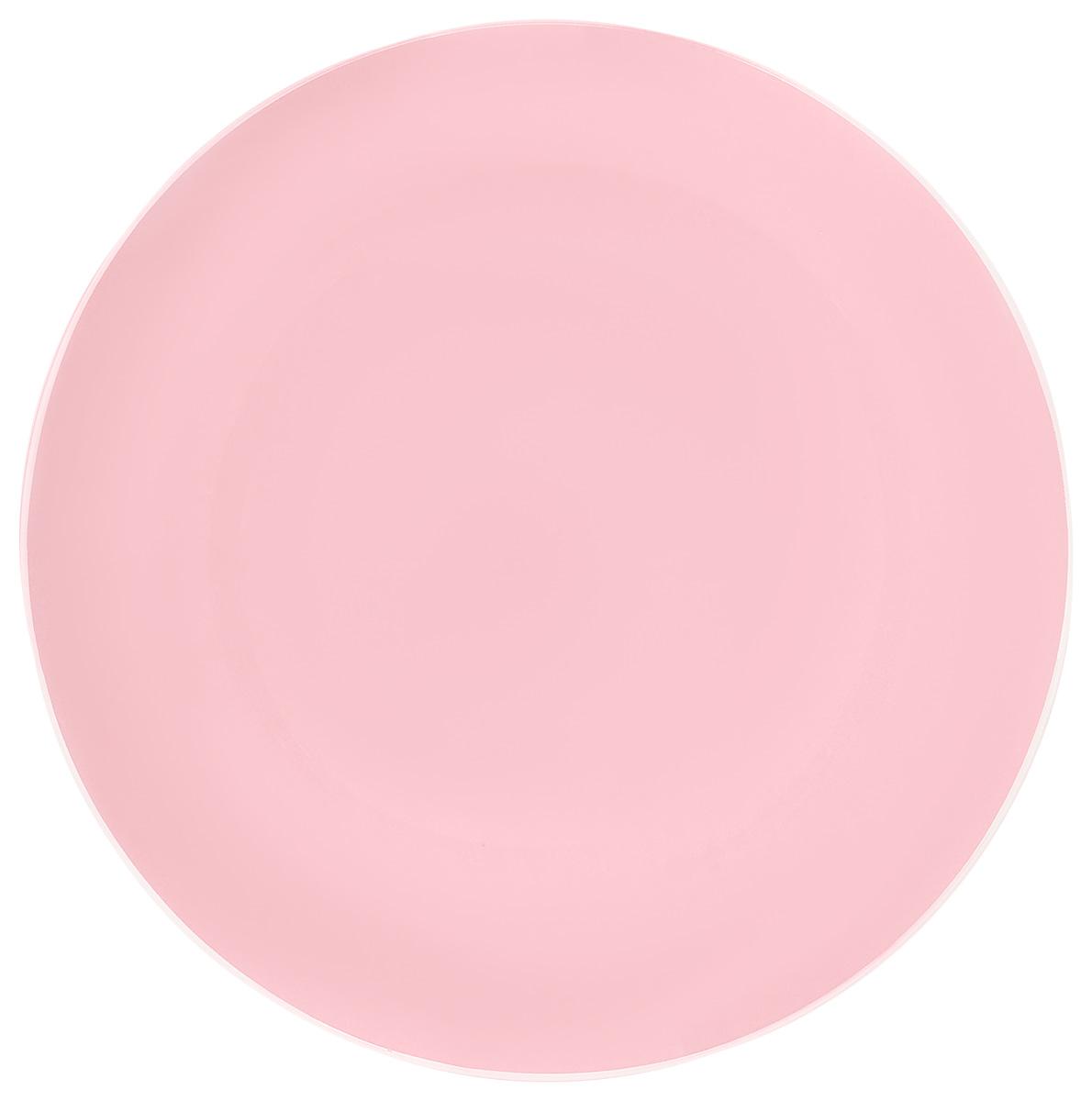 Тарелка NiNaGlass Палитра, цвет: розовый, диаметр 30 см85-300-125псрТарелка NiNaGlass Палитра выполнена из высококачественного стекла яркий насыщенный цвет. Тарелка идеальна для подачи вторых блюд, а также сервировки закусок, нарезок, салатов, овощей и фруктов. Она отлично подойдет как для повседневных, так и для торжественных случаев. Такая тарелка прекрасно впишется в интерьер вашей кухни и станет достойным дополнением к кухонному инвентарю.