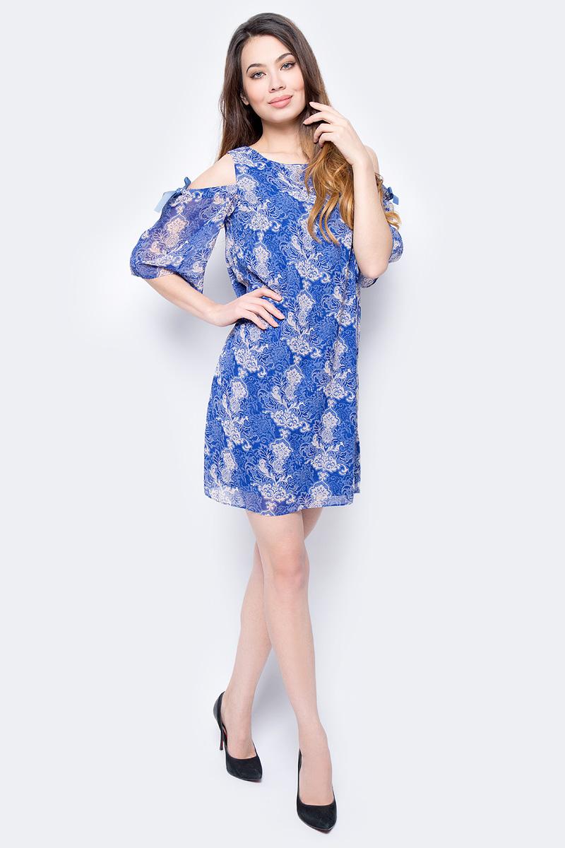 Фото - Платье женское Sela, цвет: сапфировый. D-117/872-8122. Размер 46 женское платье miuco d 22997 2015