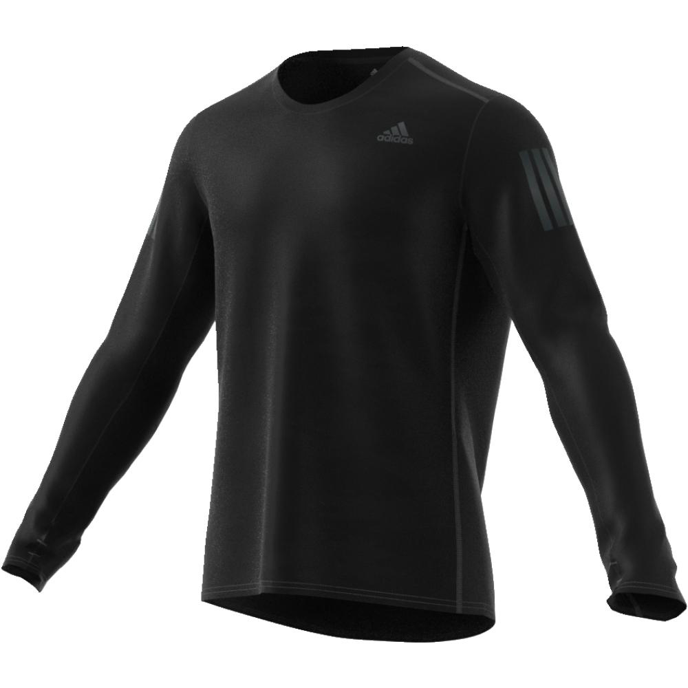 Лонгслив мужской Adidas Rs Ls Tee M, цвет: черный. CE7289. Размер S (44/46)CE7289