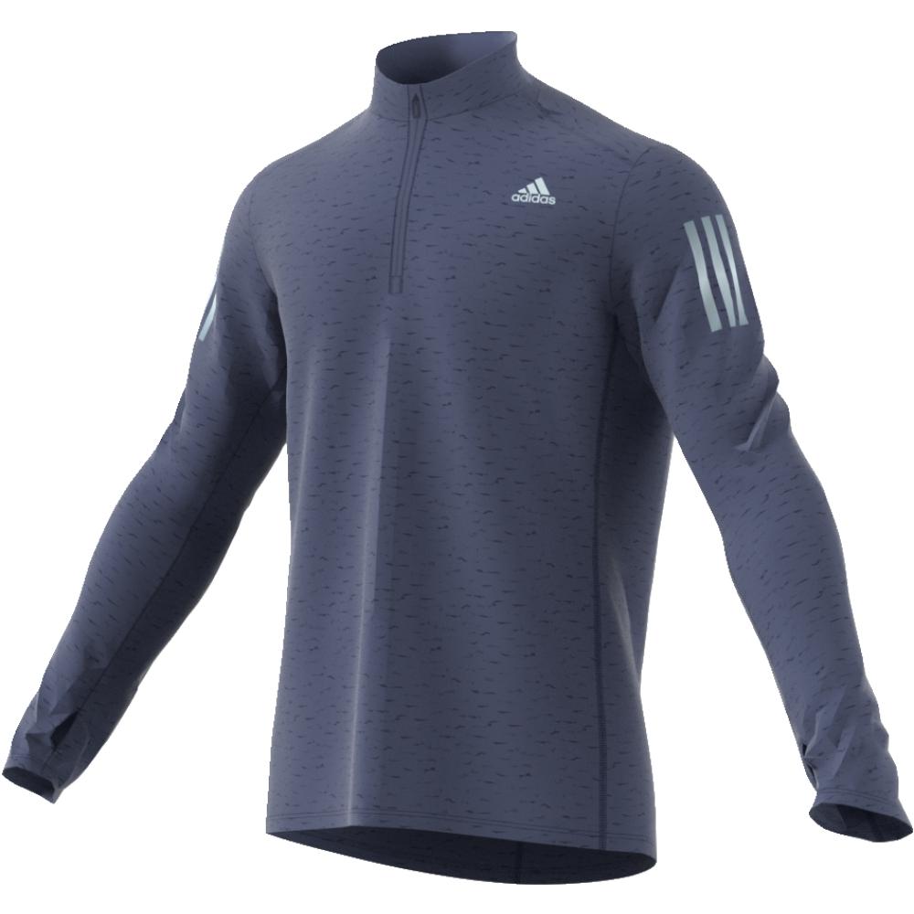 Лонгслив мужской adidas Rs Ls Zip Tee M, цвет: синий. CF2096. Размер XL (56/58) лонгслив мужской asics ls 1 2 zip jersey цвет темно синий 154589 1273 размер xl 50
