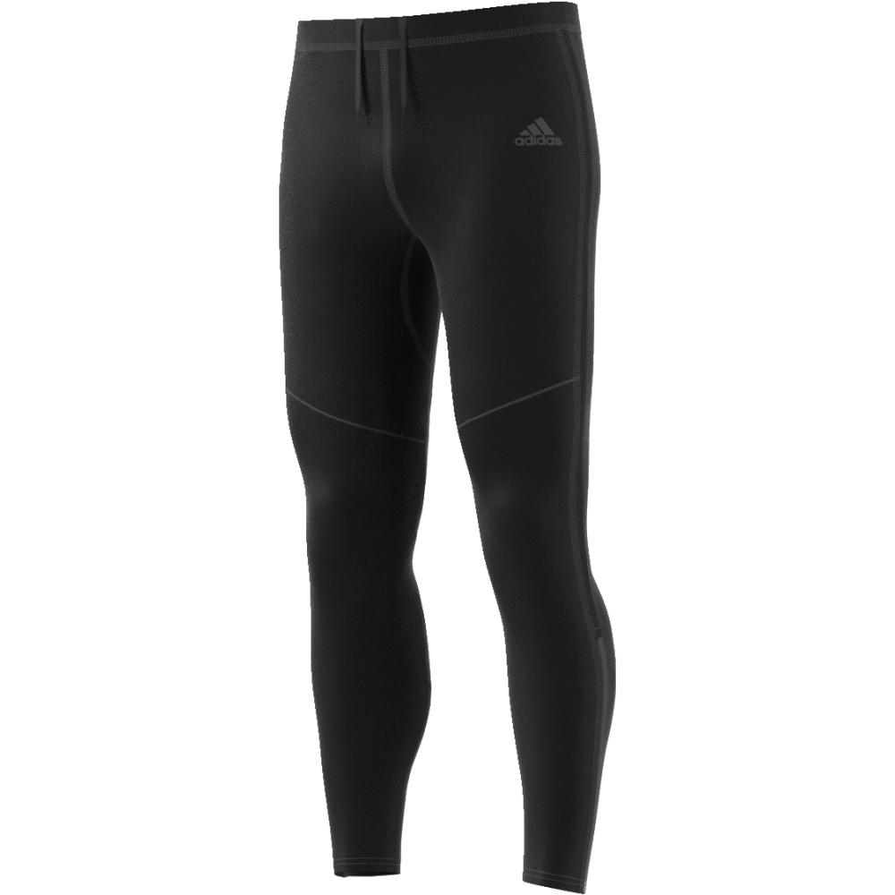 Тайтсы мужские Adidas Rs Lng Tight M, цвет: черный. CF6250. Размер S (44/46)CF6250Удобные мужские тайтсы для бега от adidas сшиты из мягкой эластичной ткани, которая повторяет каждое твое движение. Технология Climacool и сетчатые боковые панели для оптимальной вентиляции. Непромокаемый карман на молнии и светоотражающие детали.