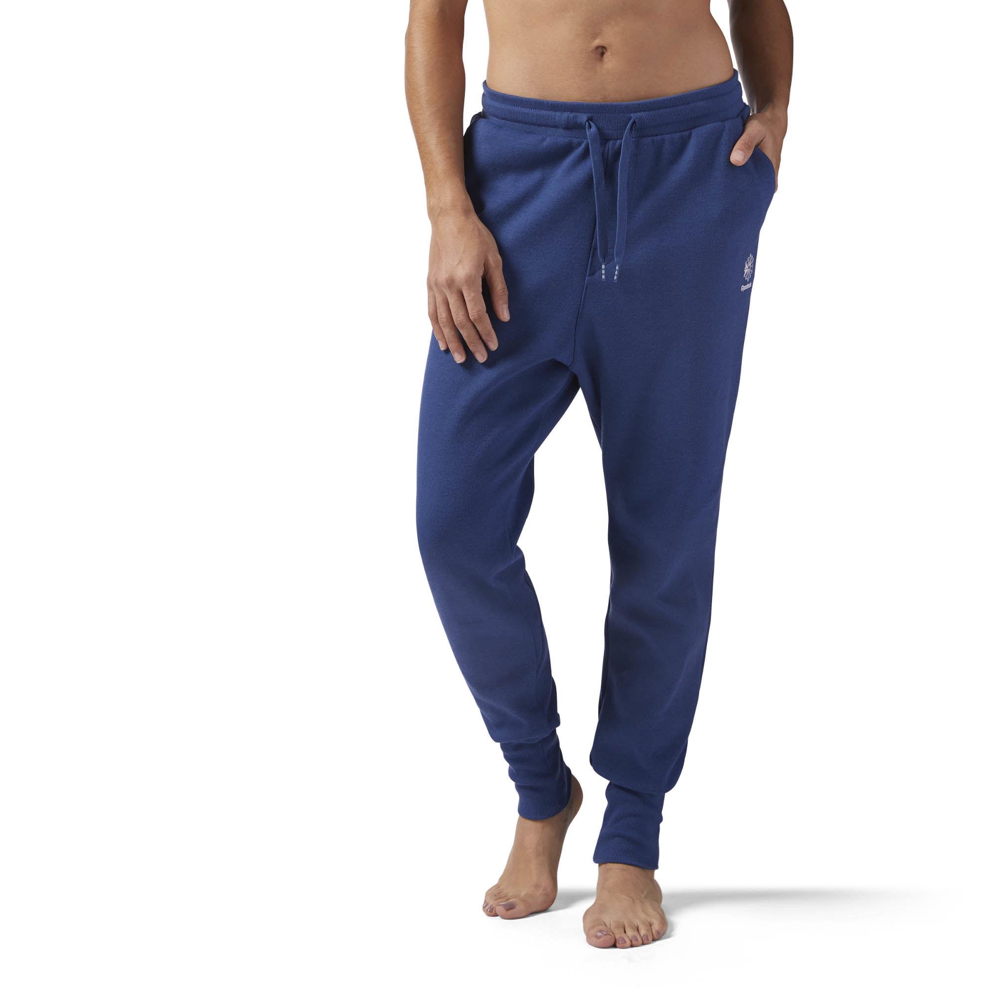 Брюки спортивные женские Reebok Dc Pant, цвет: синий. CF3938. Размер XL (52/54)