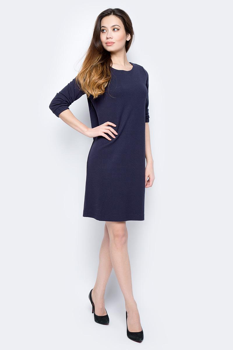 Платье женское Sela, цвет: темно-синий. DK-117/871-8122. Размер XS (42)DK-117/871-8122