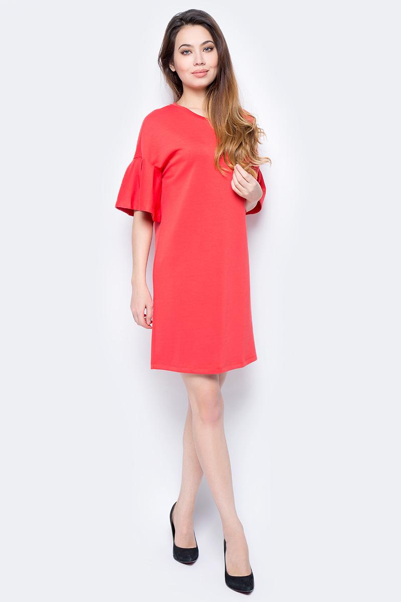 Платье женское Sela, цвет: красный. Dks-317/001-8112. Размер XS (42)Dks-317/001-8112