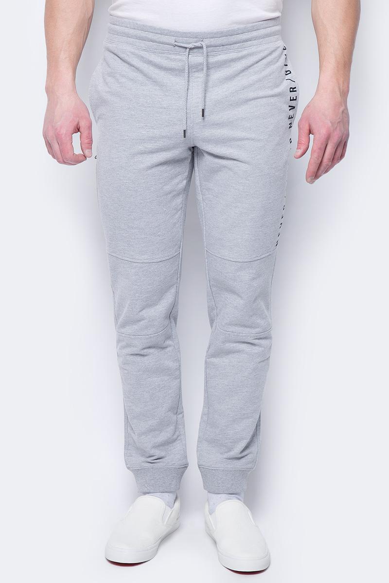 Купить Брюки мужские Sela, цвет: серый меланж. Pk-415/016-8112. Размер M (48)