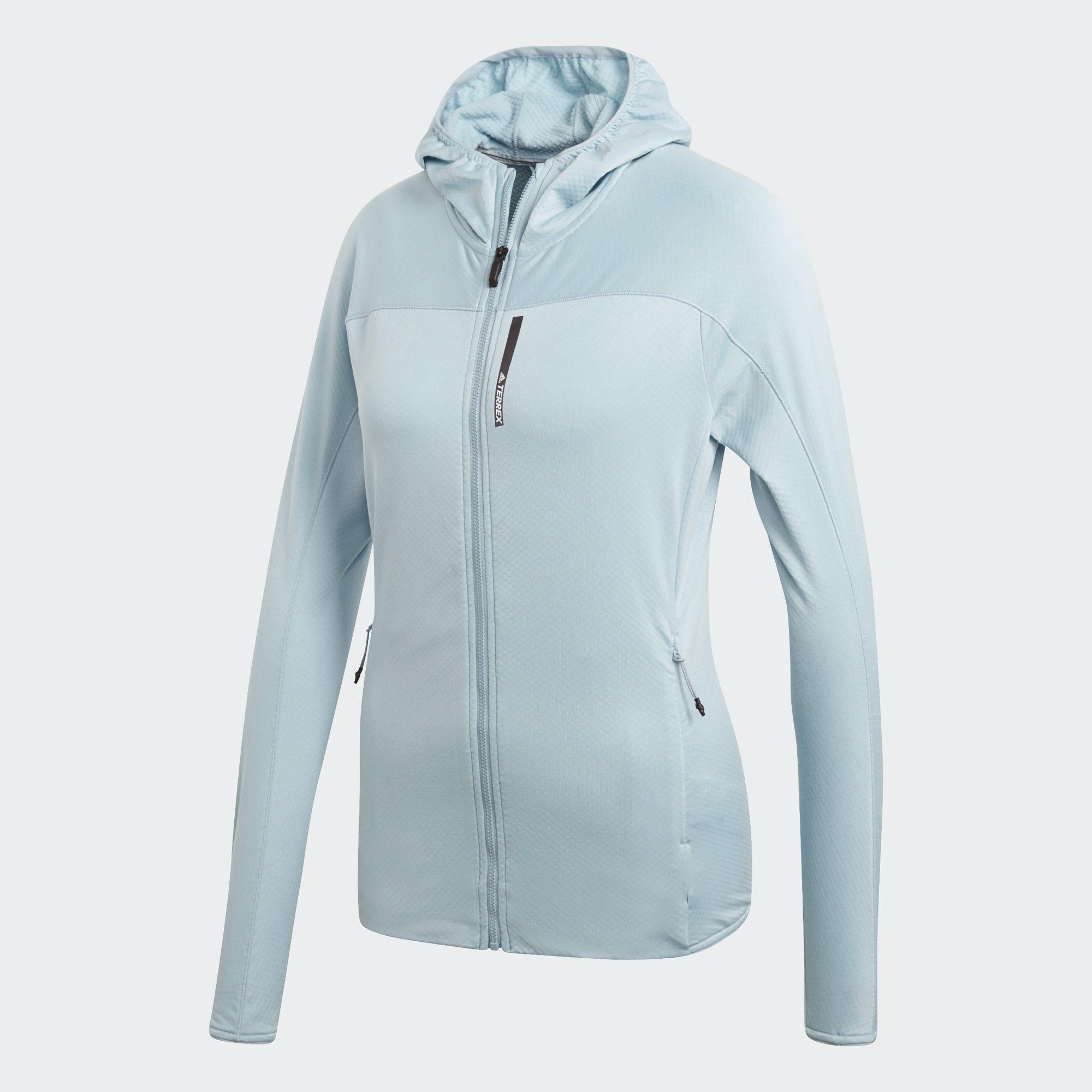 Худи женское Adidas W Tracero Ho Fl, цвет: голубой. CF9864. Размер 42 (48)CF9864