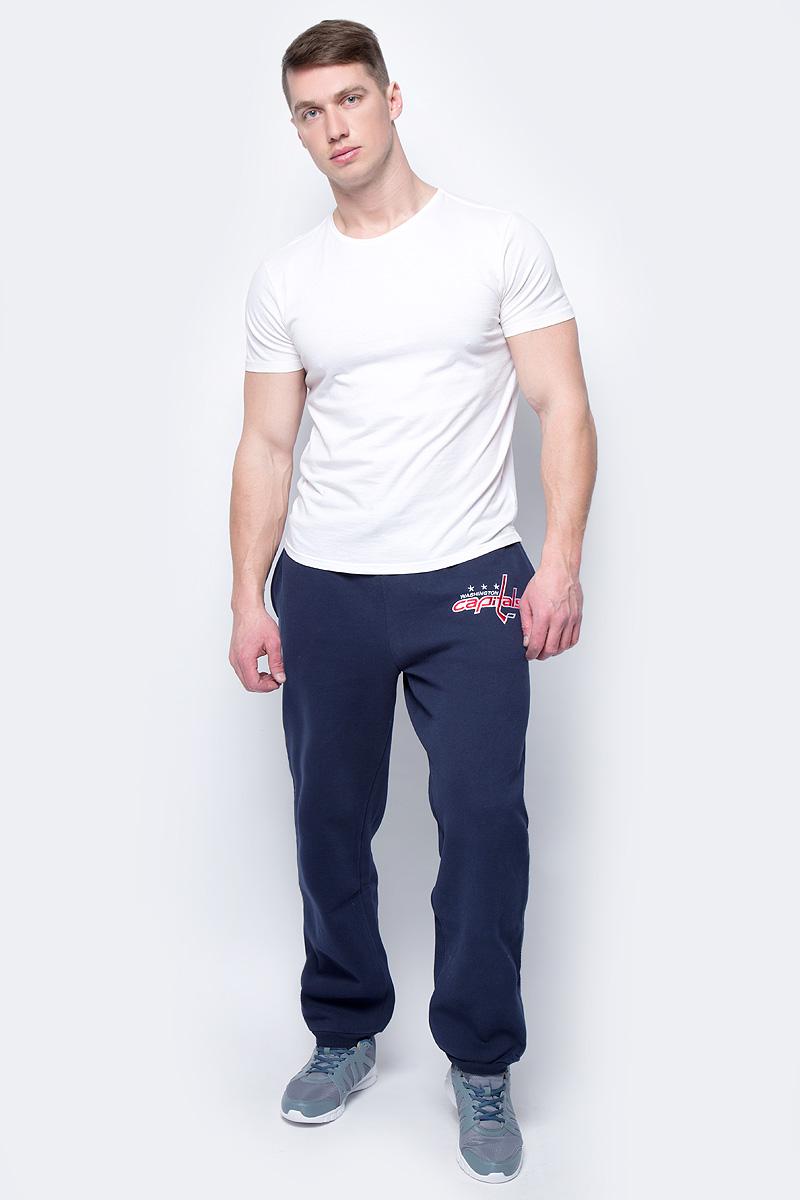 Брюки спортивные мужские Atributika & Club Washington Capitals, цвет: синий. 45220. Размер XXL (56)45220Мужские спортивные брюки великолепно подойдут для отдыха и занятий спортом. Брюки с широкой эластичной резинкой в поясе.
