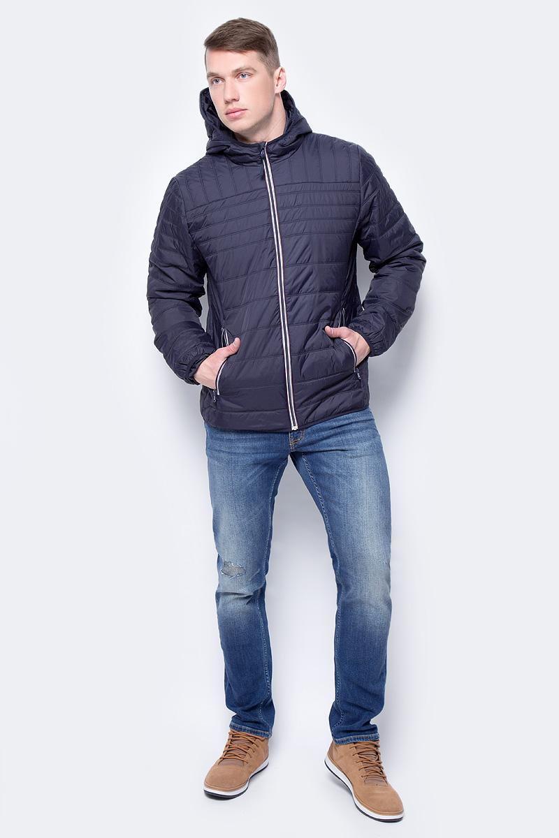 Куртка мужская Sela, цвет: темно-синий. Cp-226/426-8142. Размер XS (44)Cp-226/426-8142
