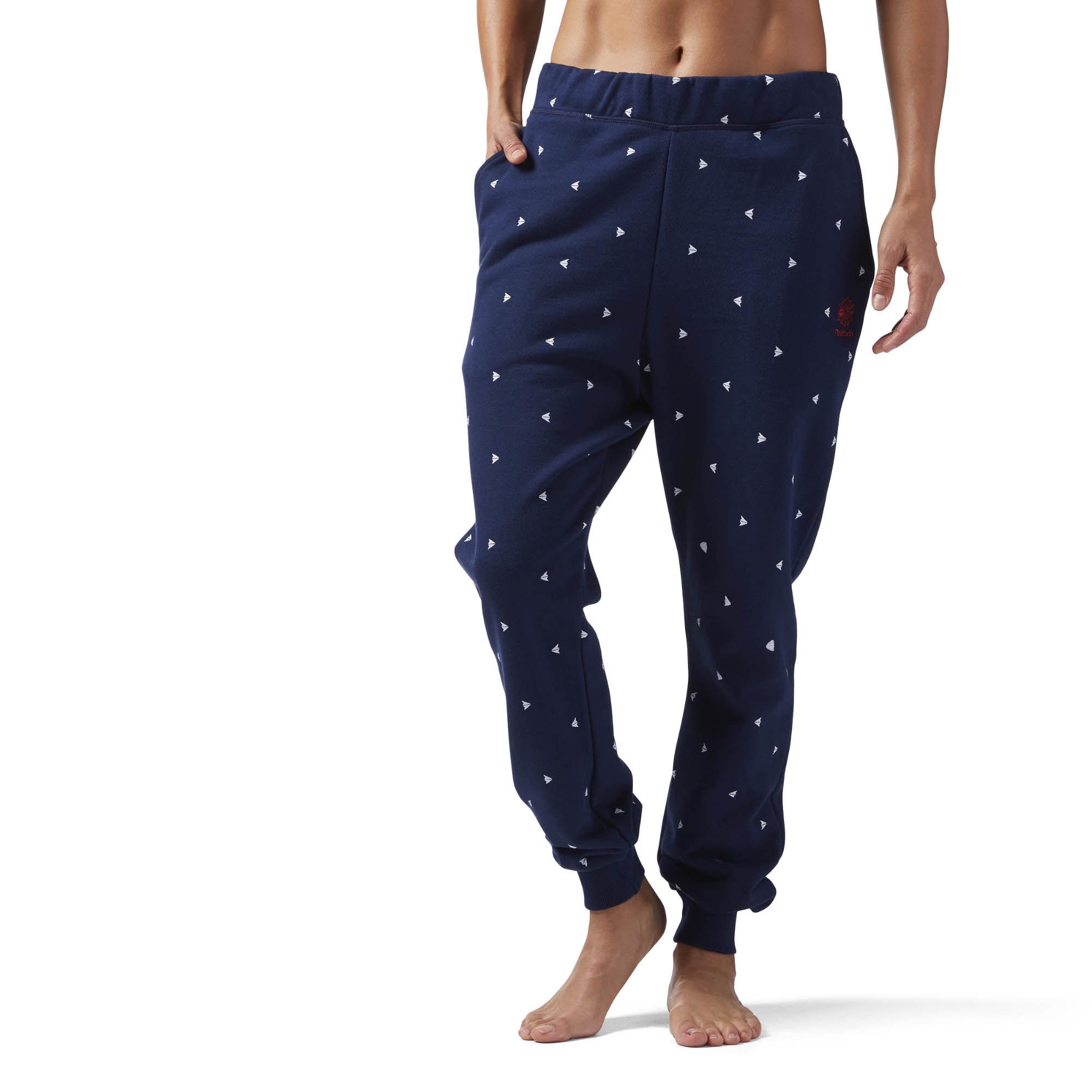 Брюки женские Reebok Gp Q2 Arrow Pant, цвет: синий. CV8306. Размер XL (52/54) брюки для катания женские salomon equipe softshell pant w цвет черный l38291000 размер xl 52 54