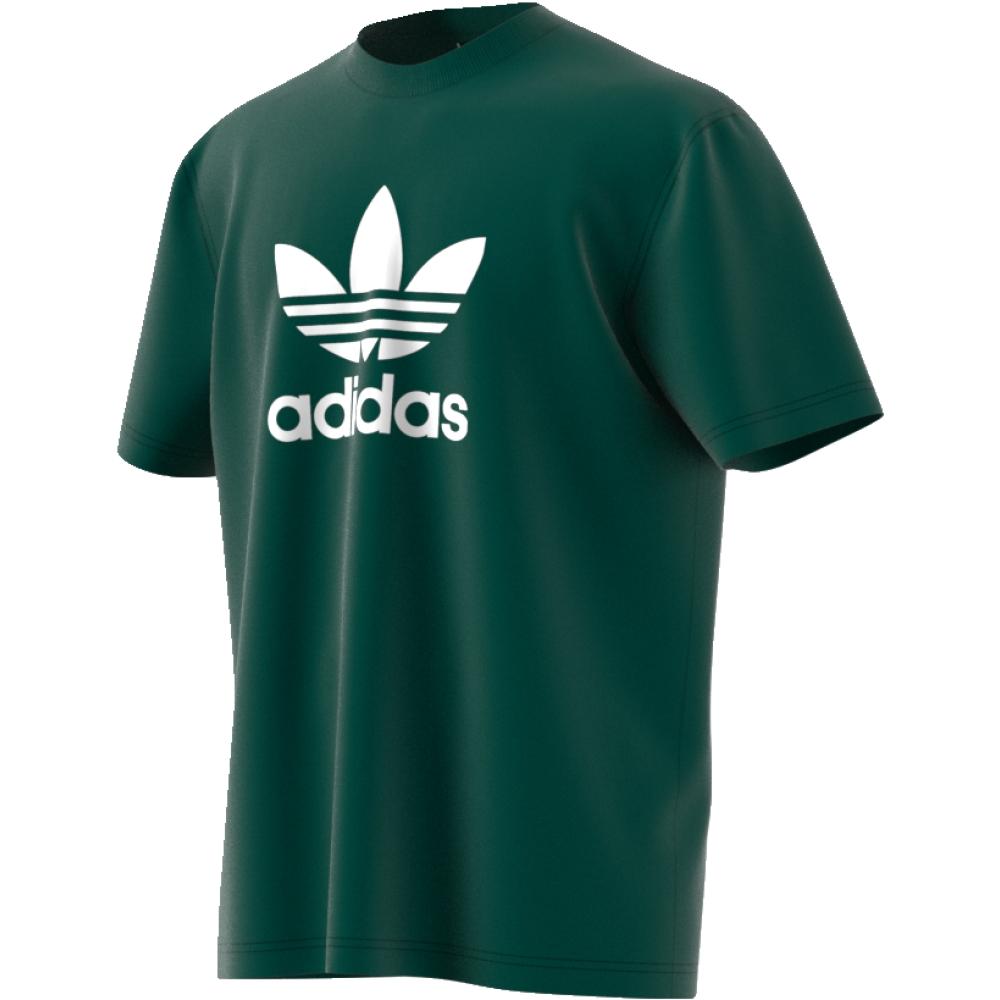 Футболка мужская adidas Trefoil T-Shirt, цвет: зеленый. CW0705. Размер S (44/46)