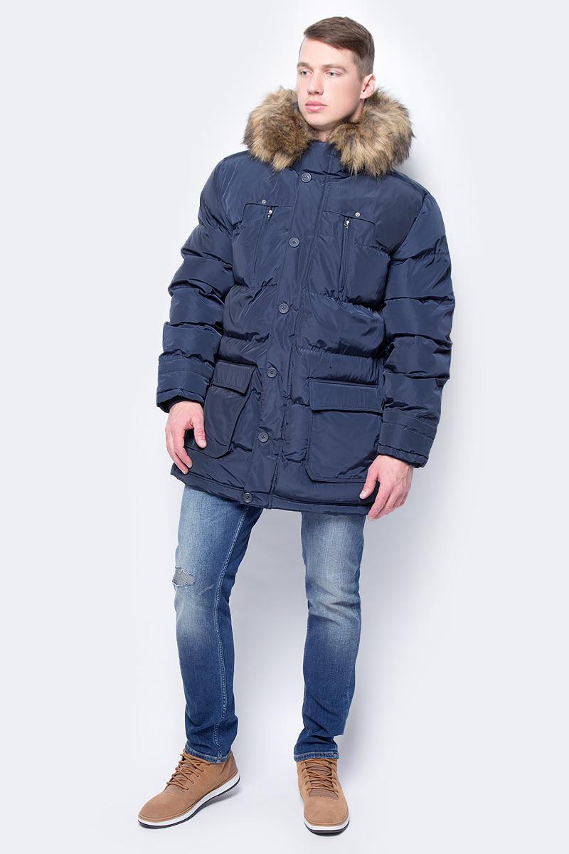Купить Куртка мужская Mustang Short Padded Jacket, цвет: синий. 3311-6617-598. Размер S (46)