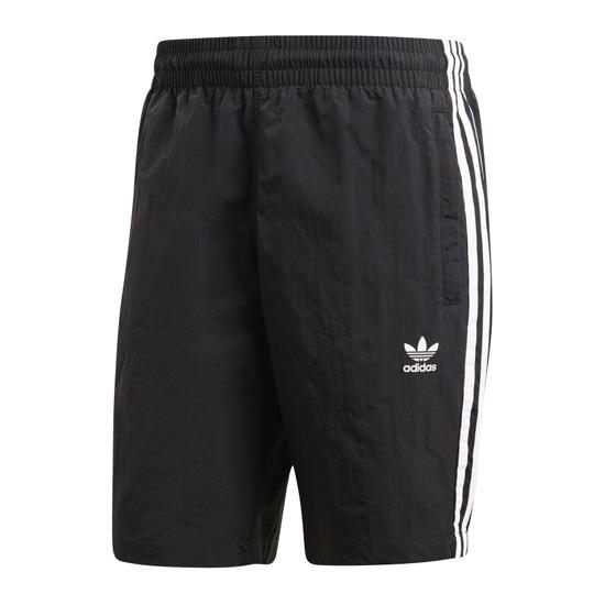 Шорты мужские Adidas 3-Stripes Swim, цвет: черный. CW1305. Размер S (44/46)CW1305Когда трилистник впервые появился в 1972 году, он олицетворял спорт. Сейчас это символ современного уличного стиля. Символ, до сих пор диктующий тренды. Эти мужские плавательные шорты от adidas выполнены по мотивам классических беговых моделей. Удобный облегающий крой и лаконичные детали. Боковые карманы на молнии для полезных мелочей. Контрастные три полоски по бокам и небольшой трилистник на бедре.